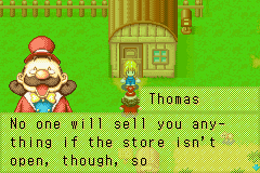 Harvest Moon - More Friends of Mineral Town - Cut-Scene  - Mayor Thomas - User Screenshot